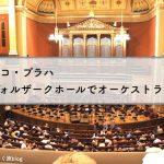 プラハ・ルドルフィヌムのドヴォルザークホールでオーケストラ鑑賞