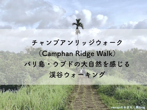 チャンプアンリッジウォーク(Camphan Ridge Walk)バリ島・ウブドの大自然を感じる渓谷ウォーキング
