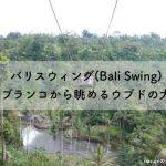 バリスウィング(Bali Swing)巨大ブランコから眺めるウブドの大絶景