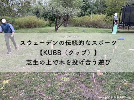 スウェーデンの伝統的なスポーツ【KUBB(クッブ)】芝生の上で木を投げ合う遊び