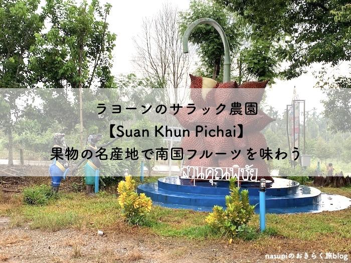 ラヨーンのサラック農園【Suan Khun Pichai】果物の名産地で南国フルーツを味わう